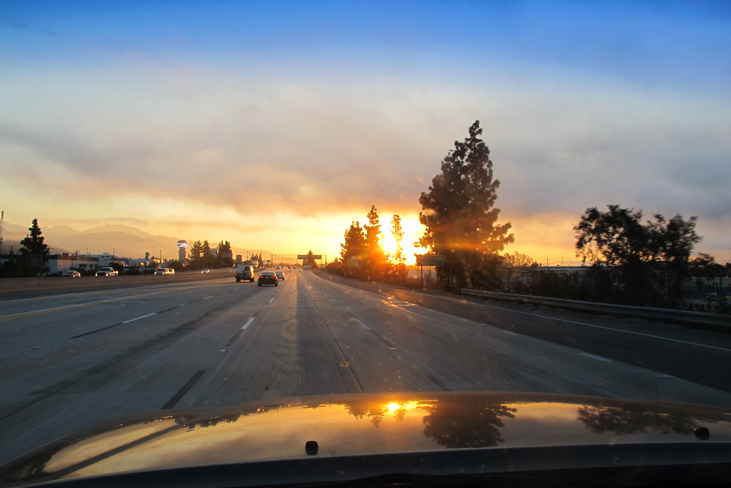 The sun rises as I start the drive to the San Bernardino Mountains. I've known about this crash site for over ten years, but never had enough information on it's location to attempt a search for it. I finally narrowed down the location so today I'll try to find it.