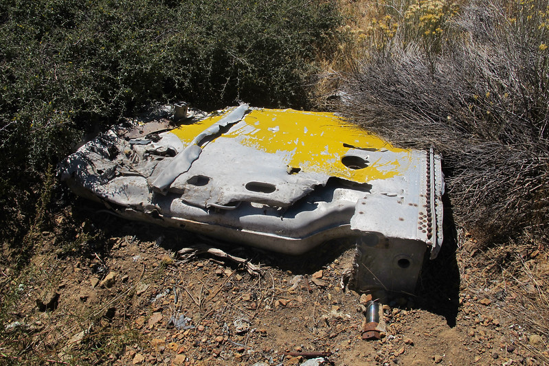 Another view, one of the fuel tanks can be seen inside.