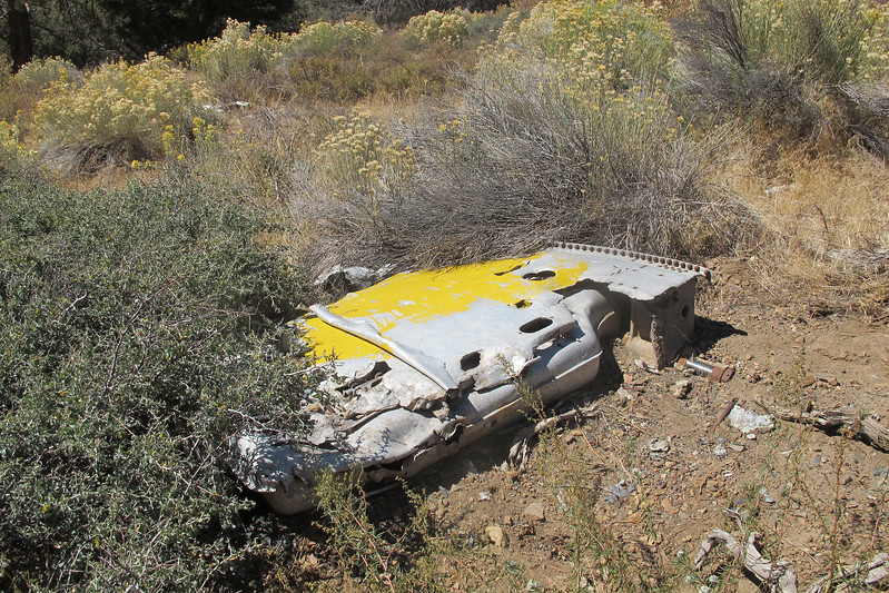 Nearby were some large pieces of wreckage. This is the left side of the wing's mid section.