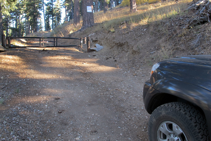Came upon a locked gate while driving to the area I planned to start hiking from. Had to change plans and start from another area.