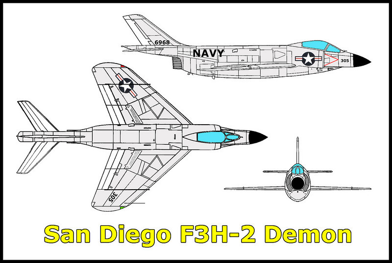 On 5/16/61, a USN McDonnell F3H-2N Demon BuNo 136973 crashed while on approach to the Miramar Naval Air Station in San Diego, California. Killed in the accident was the 23 year old pilot Lt. Thomas A. Ryan from the Fighter Squadron VF-121 based at Miramar. The Demon went down east of the base in mountainous terrain.<br /> <br /> While searching for info online for a crash site that I just visited, I came upon a web site that  told about two guys finding an engine while hiking off trail. It only gave a vague location, but after studying the topo maps and doing a lot of thinking, I thought that I had a good idea where it was.