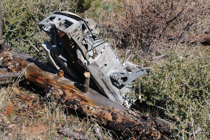 The first thing we came upon was the ejection seat that was a couple hundred feet from the crash site.