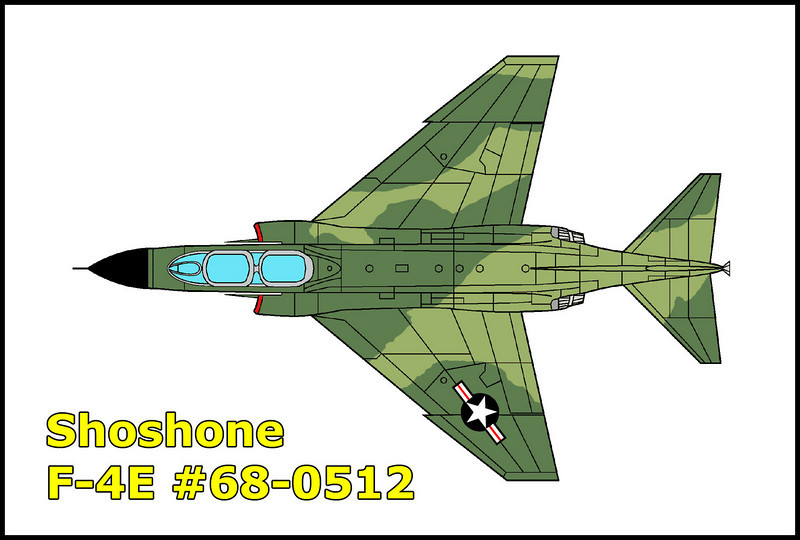 On 6/13/90 the F-4E #68-0512 piloted by Major Robert M. McGann with navigator Captain Thomas M. Steed was on a flight out of March AFB, California. The F-4E was number two in the flight support of an RF-4C transition sortie. The aircraft took off at 12:08pm and at approximately 12:35pm, the mishap aircraft crashed while practicing an attacking maneuver on the RF-4C which was in a low altitude defense reaction turn. Both crewman were killed in the accident. The crash site is near the town of Shoshone, California.