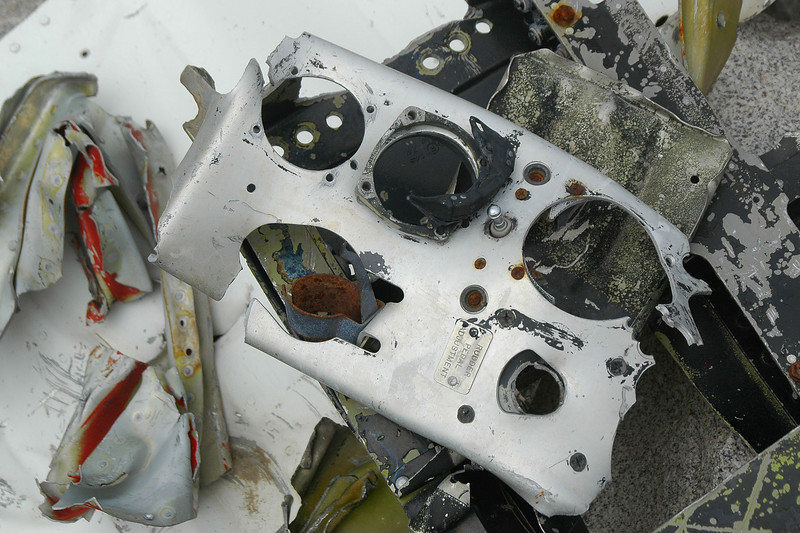 Piece of a instrument panel.