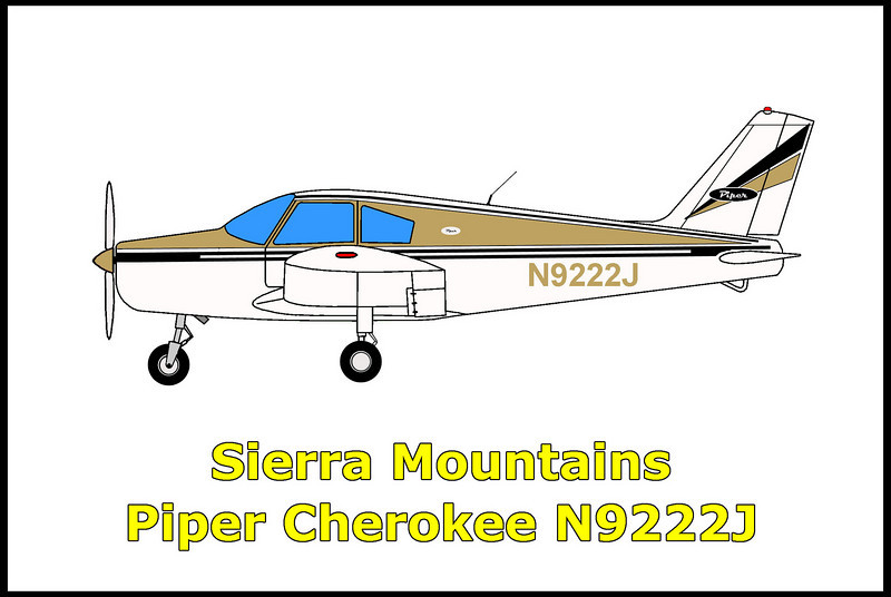 """On 11/19/67, the Piper PA-28 Cherokee N9222J crashed in the southern Sierra mountains when the non instrument rated pilot attempted flying into IFR conditions while on a flight from Bishop, Ca to Van Nuys, Ca. The pilot suffered from spatial disorientation, lost control and crashed into the mountain side. Killed in the accident were the pilot and his 10 year old daughter. His wife and 13 year old daughter survived trapped in the wreckage for 36 hours before being found and taken to the Ridgecrest Community Hospital. The search for the downed plane was based at China Lake Naval Air Station and headed by the pilot's brother.  The pilot was the actor-stunt man who portrayed the """"White Knight"""" in the 1960's Ajax laundry detergent commercials."""