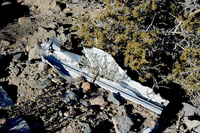 Largest piece I came upon so far. The wreckage I spotted from the ridge looked large.