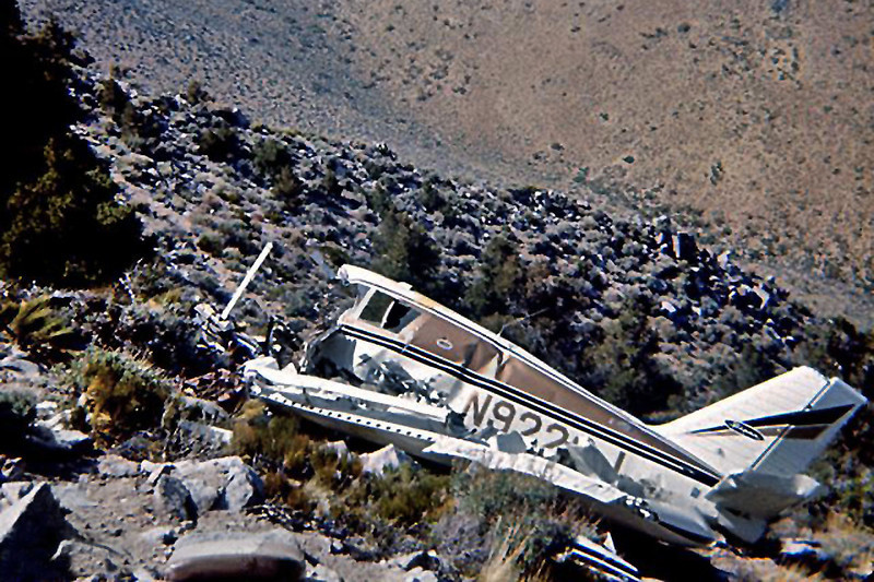 This photo of the Cherokee N9222J was taken shortly after the accident.