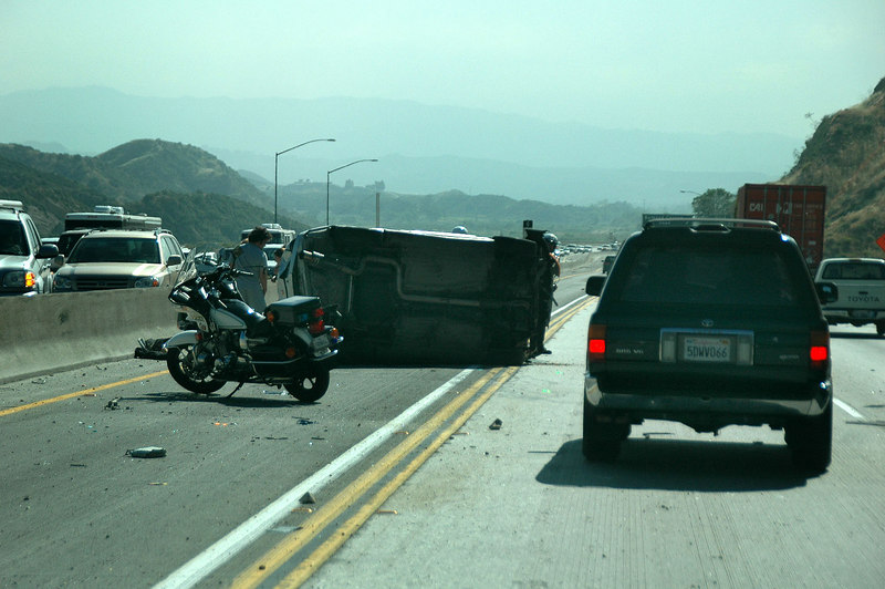Driving home on the 14, came upon a rolled car. Doesn't surprise me on this road.<br /> <br />  THE END
