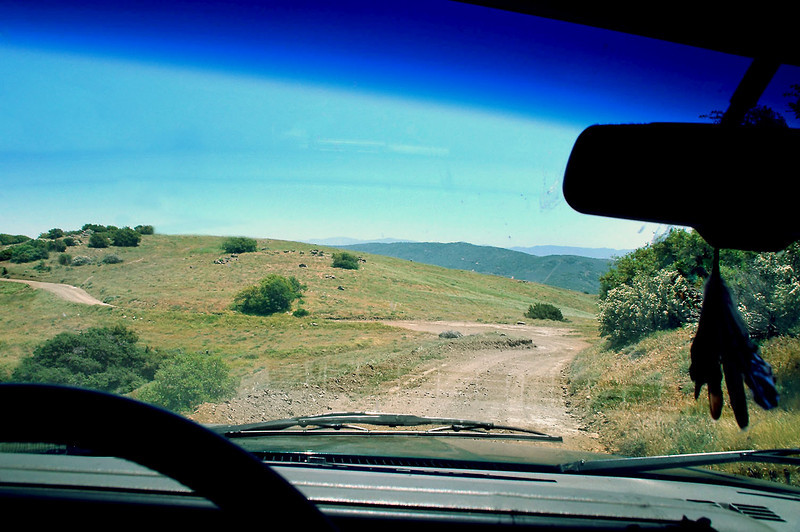 I parked just ahead after driving for awhile on dirt roads.