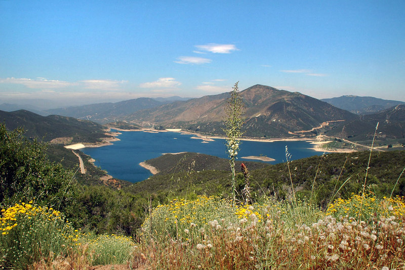 Another view of Bouquet Reservoir as I near the end of the dirt road.