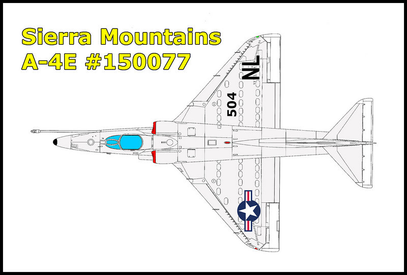 On 2/20/64, the USN Douglas A-4E Skyhawk #150077 was one of four A-4s out of NAS Lemoore that were on a flight to practice aerial refueling, bomb and rocket deliveries and defensive tactics. The group of A-4s met up with the tanker at approximately 12,500 feet MSL and headed towards the target area with the A-4s practicing refueling enroute. The four aircraft, NL506, NL505, NL510 and NL504, in that order, all made routine plug-ins and received a token amount of fuel, 20-30 gallons. The exercise was repeated and another round of plug-ins commenced. NL505, NL506, and NL510 preformed the operation normally, but a small amount of fuel sprayed from the store drogue onto the windshield of NL510 when it unplugged, a common occurrence. Next Lt. Edward A. Dickson in NL504 moved into position and executed what appeared to be a smooth plug-in with an excellent closure rate. As NL504 pushed the drogue in, fuel began streaming from the drogue basket at a high rate and sprayed over the aircraft nose, canopy and into the engine intake ducts. Lt. Dickson radioed to the tanker telling him to turn the transfer off and at the same time reduced the throttle to at or near idle in attempt to back away from the drogue. The ingested fuel caused fumes in the cockpit and Lt. Dickson diverted his attention momentarily to place the air conditioning system to RAM AIR. NL504 moved under the tanker in spite of the throttle being at idle. Lt. Dickson then extended the speed brakes and NL504 back free from the drogue. The period during which fuel initially started streaming from the drogue until it stopped after NL504 backed free was 10 to 15 seconds. The ingested fuel damaged the engine and caused a compressor stall. Lt. Dickson entered a 180-190 knot glide with the throttle at idle which did not change the compressor stall condition. Next he shifted to manual fuel control and shortly thereafter advanced the throttle to about three quarters of full throttle position in an effort to stop his sink r