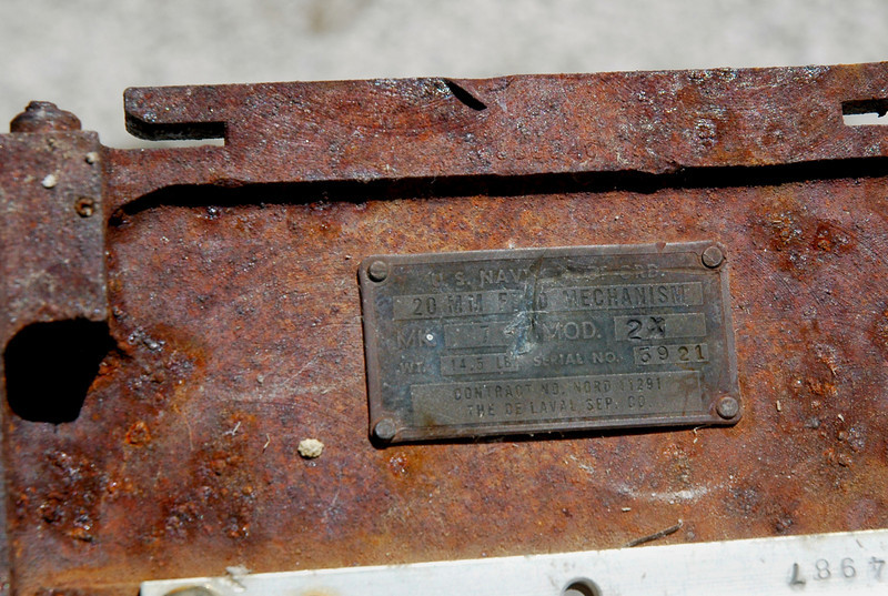 Tag on the part said that it was from a 20 MM feed mechanism. Most A-4s were armed with twin Colt Mk 12 20mm cannons.