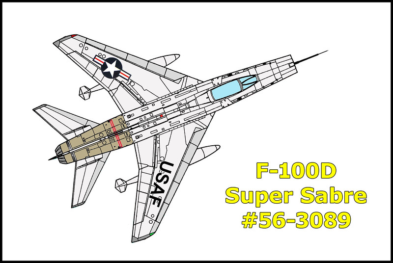 On 8/18/58, the F-100D Super Sabre #56-3089 crashed on a cliff face while on a routine training mission. The pilot was able to eject safely landing. Great site with the total aircraft scattered from 1,800' to 700' msl from the impact on the cliff face. Engine and 20mm cannons still at site. This is my favorite crash site hike due to the climbing, great views and all the wreckage that remains.<br /> <br /> History Of Flight: F-100D, 56-3089, pilot Phillips, was number three of a four ship flight which was scheduled for a gunnery mission at George AFB on 18 August 1958. Flight call sign was Armstrong Delta and assembled for briefing at 0900 PDT. The briefing which included emergency procedures and the local emergency landing areas, was concluded at 1000 PDT. The flight was cleared on AF Form 113 in the George AFB local area an ETE of one hour with one hour and thirty minutes of fuel aboard. The weather was 6500 feet scattered and 15 miles visibility. The walk around inspection of the aircraft was normal and revealed no discrepancies. The flight was airborne at 1040 PDT with take off accomplished by elements of two and the flight proceeded to the designated area where it broke up into two ship elements with Delta 3 leading the second element. The ensuing mission was normal in all respects until approximately 1115 PDT when Delta 3 experienced an inadvertent afterburner light while performing a chandelle. The throttle was retarded and afterburner went out. The throttle was again advanced and the afterburner did not light even though the throttle was placed in the outboard (afterburner) position. The element then turned to the heading for the return to base and Delta 3 elected to fall behind his wing man where he could further check his captive missile monitor control. When the throttle was retarded to the idle position, it remained stuck despite all attempts of the pilot to advance throttle. Delta 4 was notified of the emergency and GCI was contacted, informed of the eme