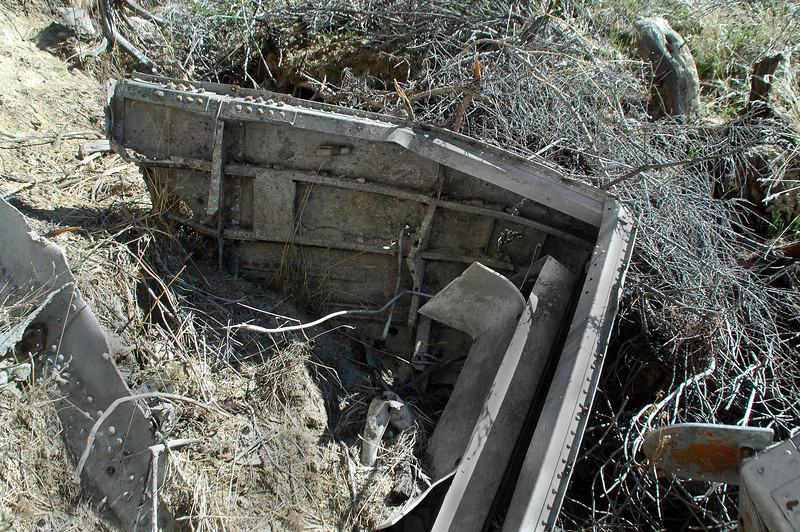 Just above the tank is this large piece from the fuselage.