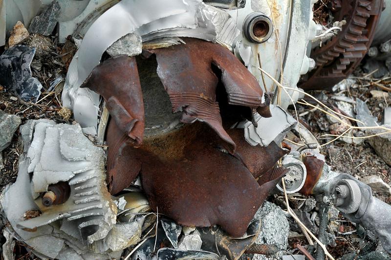 Badly damaged cylinder.