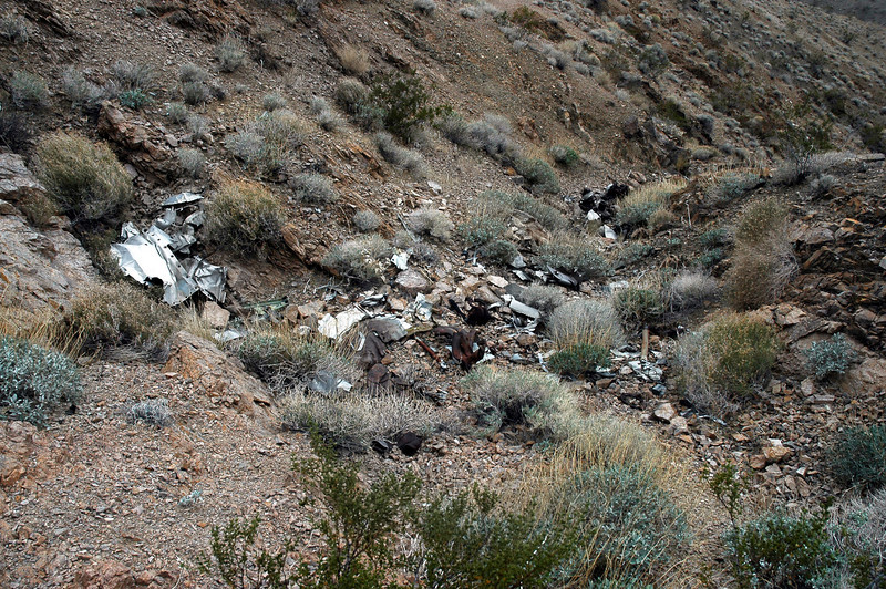 Some of the wreckage further down the canyon.