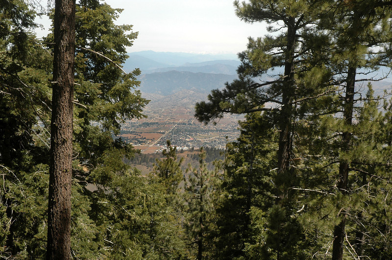 Looking down on the town of Tehachapi as I hike towards the summit.