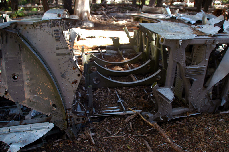 Another view of the cut main spar. Sections of the rear spar along with other pieces were also cut out.