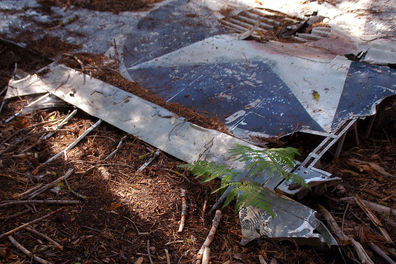 Remains of the aileron.
