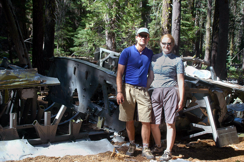 When I got to the wing was surprised to find people there. Doug and Allyn from Folsom. This was the first crash site that they visited.