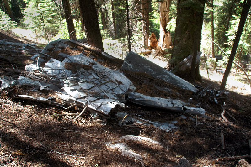 Turned out to be the rear section of the crushed fuselage.
