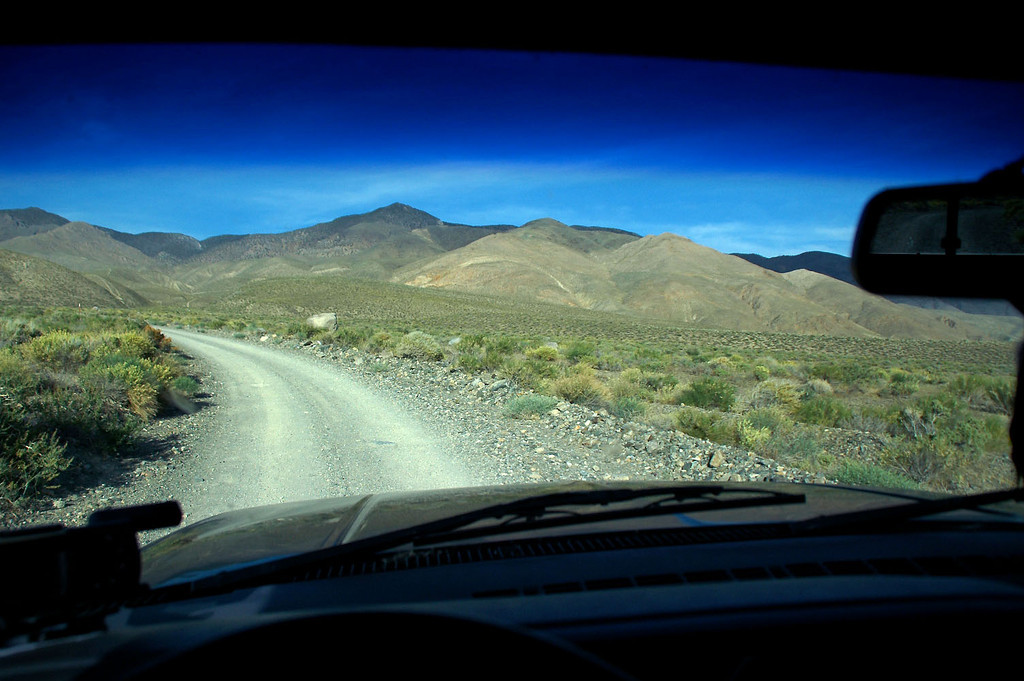 Driving up into the foothills of the White Mountans looking for a place to spend the night.