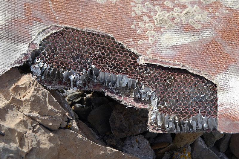 A fiberglass honeycomb panel.