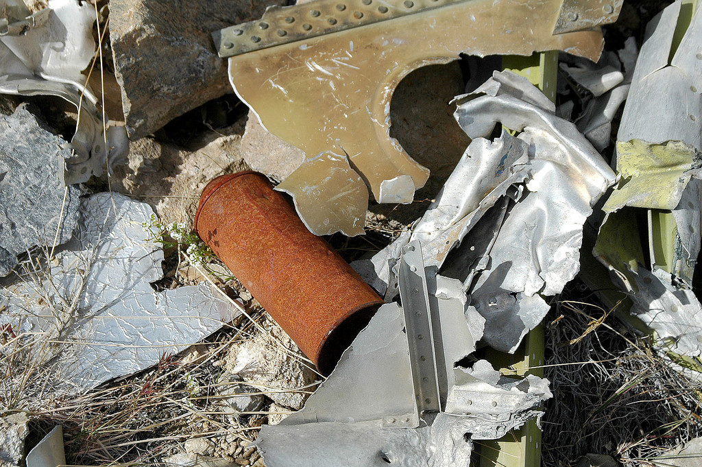 One of the many spray cans that were all around the crash site.
