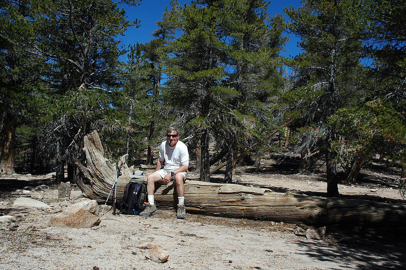 Me at Fish Creek saddle at 9,800'. Stopped here for a short snack break.