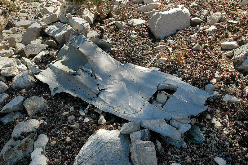 This piece from the fuselage was part of the wing fairing on it.
