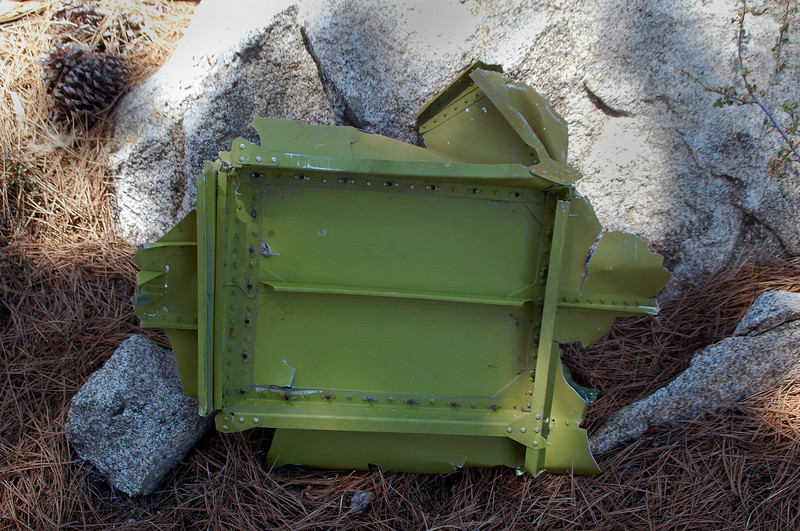 This piece of the airframe  is about two foot square.