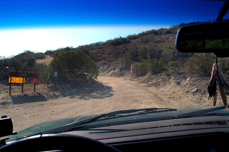 This is the start of the Santa Rosa Mountain Road off Hwy 74. The 12.5 mile road leads to the top of Toro Peak, but there's a closed gate about quarter mile from the top.