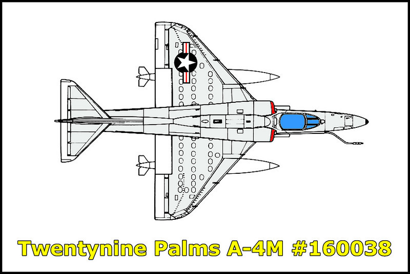 On 5/10/82, the A-4M Skyhawk #160038 crashed on a lava flow near the Twentynine Palms Marine Base after suffering from an engine failure during recovery from strafe run, pilot ejected after unsuccessful attempts to regain power.