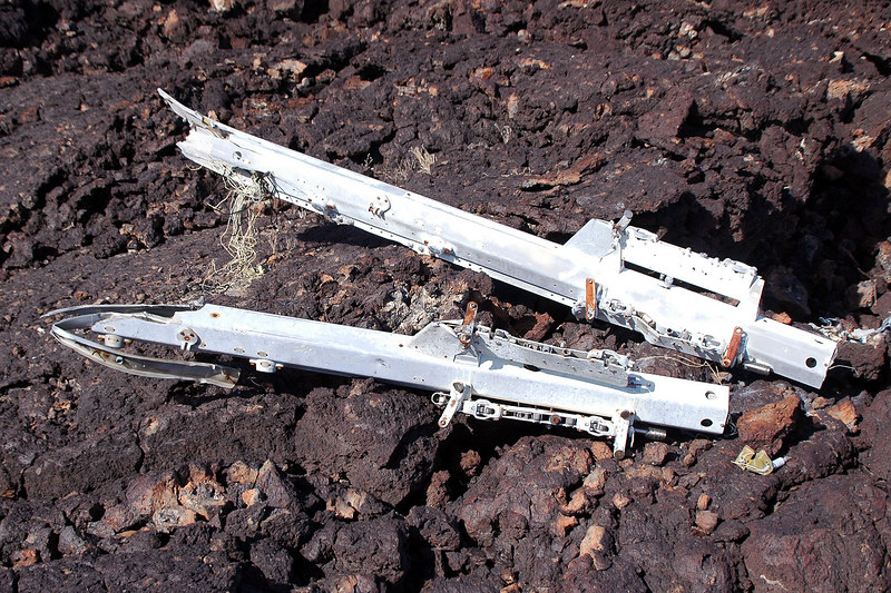Next to the crater were two weapon pylons.