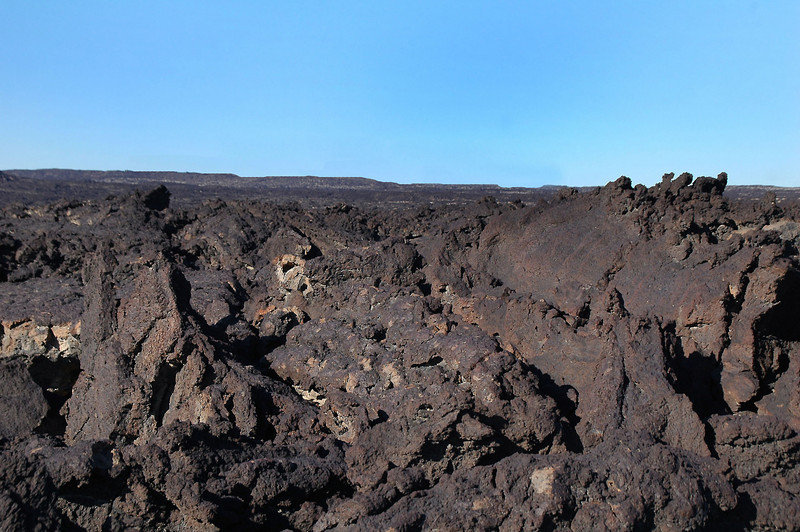 The hike to the crash site wasn't very far, but hiking on the lava flow was difficult at times.
