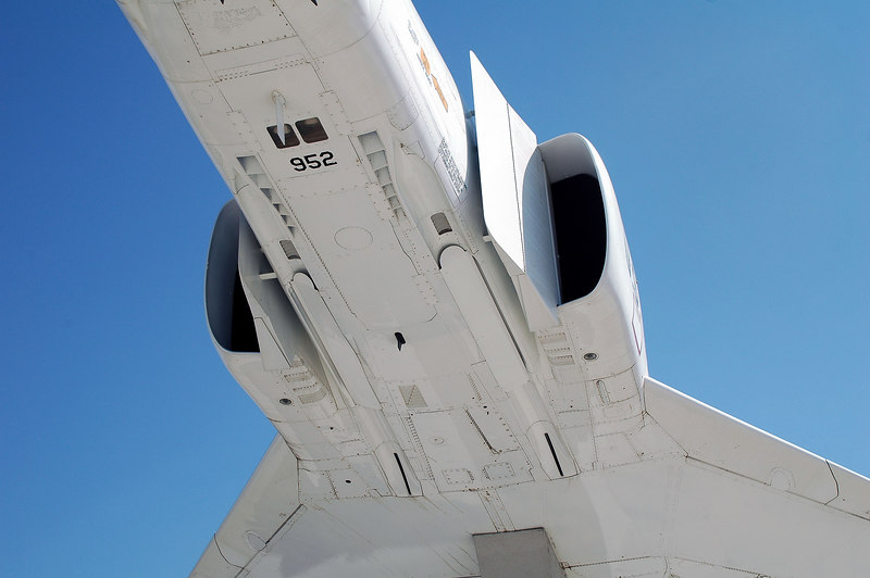 This bottom view shows a lot of the details of the intakes.