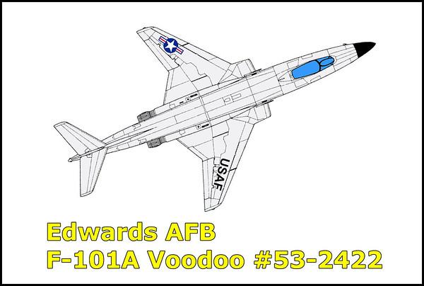 Edwards AFB F-101A Voodoo #53-2422 10/5/14