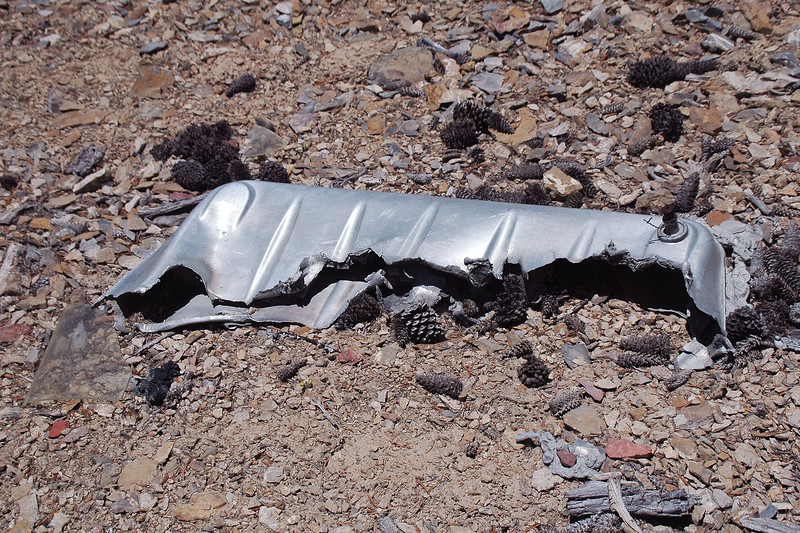 Think this is part of a wing fuel tank. The section that is missing looks like it melted away.