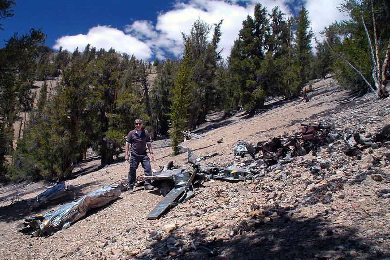 Me at the crash site of the L-19E Birddog.