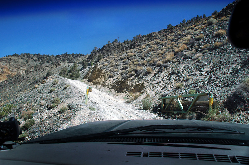 This is where the road gets steep at the 7,100 foot level. The White Mountains are on the east side of the Owens Valley with the highest peak being White Mountain at 14,246 feet. The third highest peak in California.