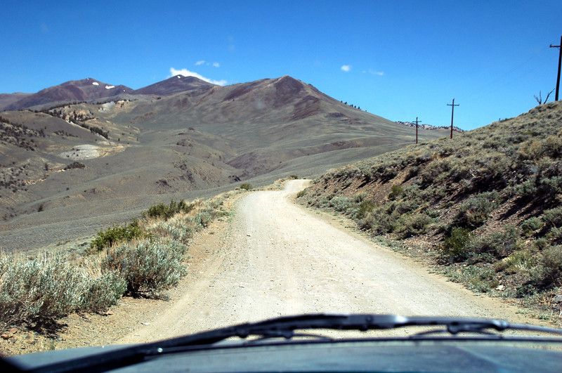 On the White Mountain Road heading north to Campito Meadow. The hike to the Birddog will start from there.