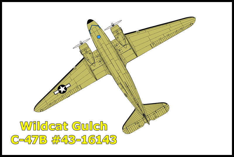 The Douglas C-47B Dakota #43-16143 USAAF that I was searching for crashed in Wildcat Gulch in heavy clouds on 11/11/44 during a flight from Hamilton Field, San Rafael to Mines Field, Los Angeles. Only one of the thirteen people onboard survived.