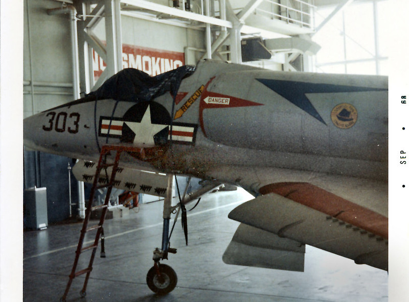 This photo of A-4C BuNo 149626 was taken inside hangar 3 at NAF China Lake. <br /> <br /> Photo by Wayne Mutza, provided by Gary Verver.