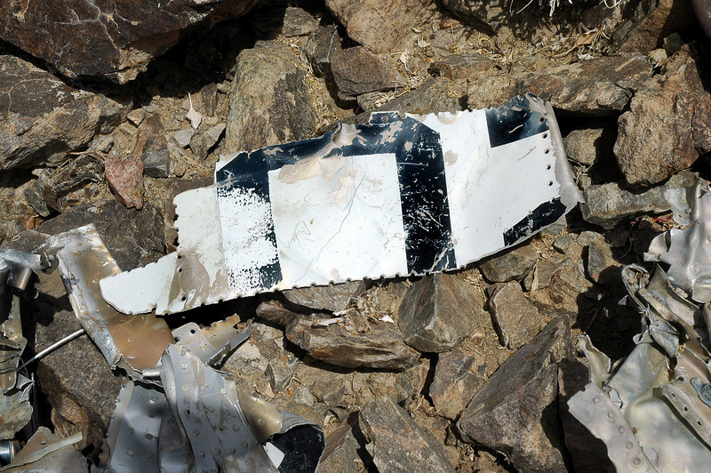 Pieces of fuselage skin with parts of numbers. Judging by the size of the numbers, it looks like they are from the nose number. Still have not found anything that will indemnify this A-4.