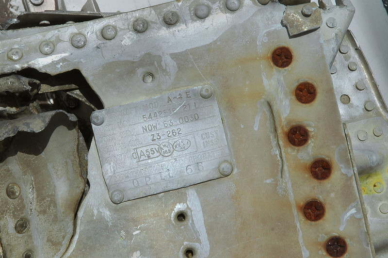 Tag on the piece of lower flap has the model as A-4E.