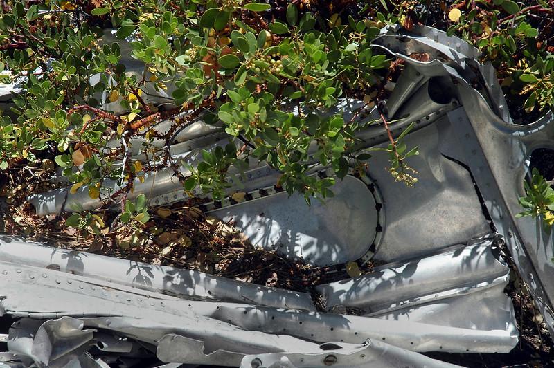 Wreckage with manzaita.