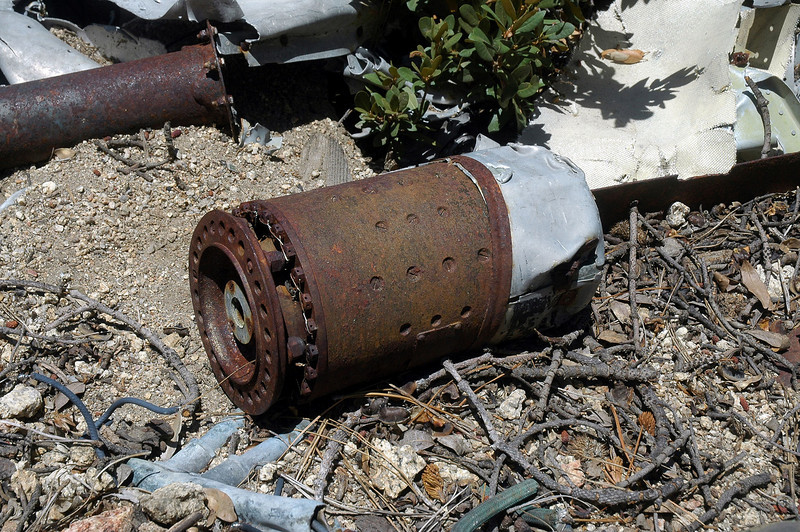 Think that this is the remains of a generator, it's about eighteen inches long and really heavy.