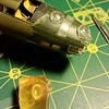 151203 B17F: Casting an astrodome (from Revell part).  Didn't work too well.