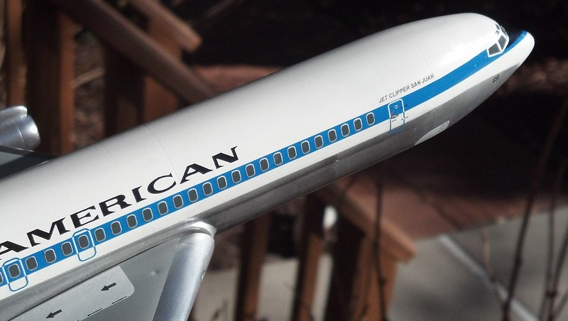 """N450PA """"Jet Clipper Borinquen"""" Trivia:  """"San Juan"""" is the name given to the island by the Spaniards.  We know it as Puerto Rico."""