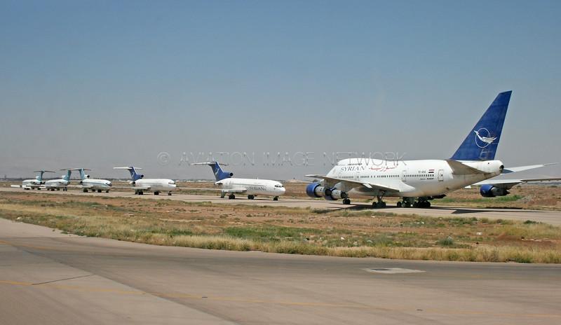 YK-AHA | Boeing 747SP-94 | YK-AGB | Boeing 727-294 | Syrian Air